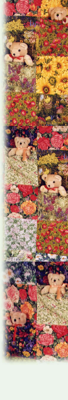 patchwork quilt with teddy bears from Frogs and Snails and Teddy Bear Tales and the Arts Council England logo
