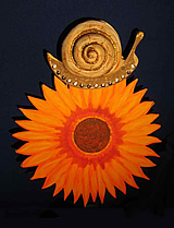 photo from the puppet play: Snail and Sunflower